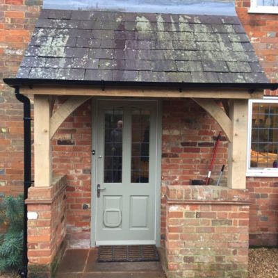 Refurbished oak porch with existing walls and roof