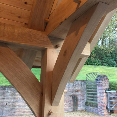 Oak detail with tongue and groove boarding